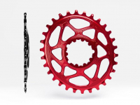 roda ped.absblack sram oval 30d red 6 off