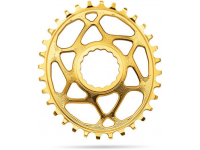 roda ped.absblack raceface oval 32d gold