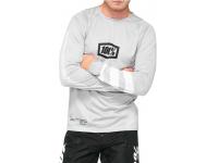 camisola 100% r-core m/comp cinza/branco