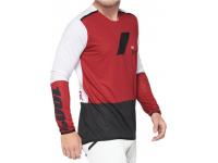 camisola 100% r-core x m/comp verm/preto