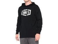 camisola 100% hoodie essential m/comp preto