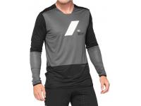 camisola 100% r-core x m/comp charcoal/preto