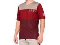 camisola 100% airmatic m/curt brick/vermelho