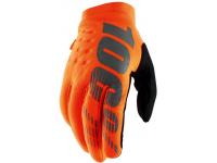 luvas 100% brisker laranja/preto c/dedos