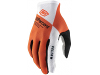 luvas 100% celium laranja fluo/branco c/dedos