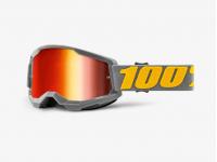 goggles 100% strata 2 izipizi lentes vermelho