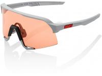 oculos 100% s3 cinza lentes hiper coral