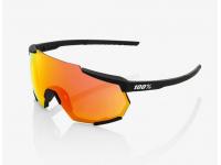 oculos 100% racetrap preto lentes hiper red