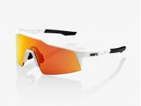 oculos 100% speedcraft sl branco lentes hiper red