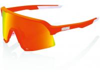 oculos 100% s3 laranja neon lentes hiper red