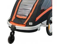 roda frontal atrelado transporte crianças ktm 360º