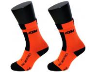meias ktm compression bd laranja curtas 65864210