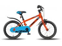 bicicleta ktm 1.16 rapaz prt/azul/laranja