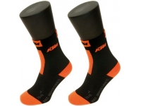 meias ktm compression bd preto/lar curtas 65864020
