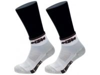 meias ktm factory line branco/preto curtas 6585801