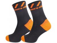 meias ktm factory line preto/laranja