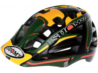 capacete suomy scrambler desert green/yellow